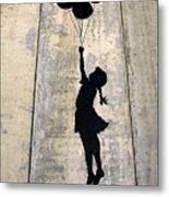 Ballons Girl Metal Print