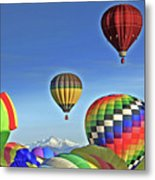 Ballooning Above Longs Peak Metal Print