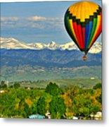 Ballooning Over The Rockies Metal Print