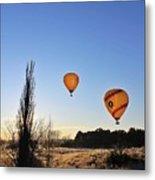 Balloons At Sunrise Metal Print