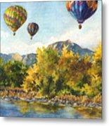 Balloons At Twin Lakes Metal Print