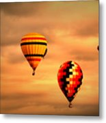 Balloons In The Morning Metal Print