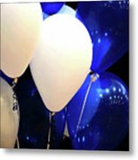Balloons Of Blue And White Metal Print