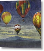 Balloons Over Sister Mountains Metal Print