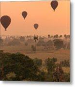 Balloons Sky Metal Print