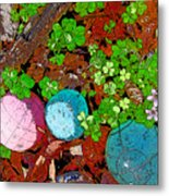 Balls And Clover Metal Print