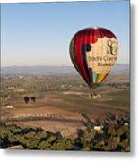 Baloon Riding  Over Temecula Ca Metal Print