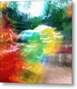 Baloons N Lights Metal Print