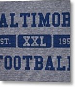 Baltimore Colts Retro Shirt Metal Print