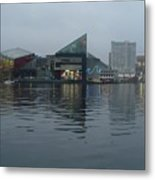 Baltimore Harbor Reflection Metal Print