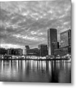 Baltimore In Black And White Metal Print