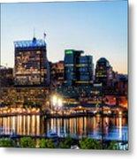 Baltimore Inner Harbor Reflections Metal Print