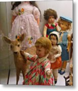 Bambi And Baby Metal Print