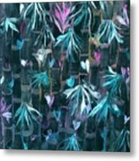 Bamboo And Butterflies Metal Print