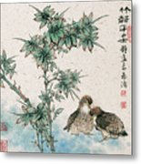 Bamboo And Chicken Metal Print