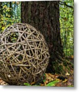 Bamboo Ball Metal Print