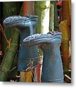 Bamboo Boots Metal Print