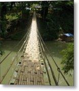 Bamboo Bridge Metal Print
