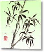 Bamboo Drawing  Metal Print