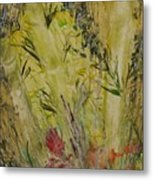 Bamboo In The Forest Metal Print