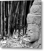 Bamboo Landscape  Statue Asian  Metal Print