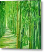 Bamboo Paths Metal Print