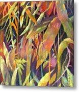 Bamboo Patterns Metal Print