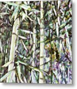 Bamboo Sprouts Forest Metal Print