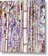 Bamboo Texture Metal Print