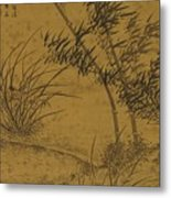 Bamboos And Orchids In The Wind Metal Print