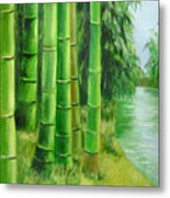 Bamboos By The River Metal Print