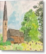 Bamford Church And Serenity Of Nature Metal Print