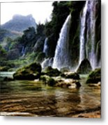 Ban Gioc Vietnam's Most Beautiful Waterfall  Metal Print