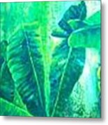 Banan Leaves 5 Metal Print