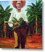 Banana Farmer Metal Print