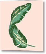 Banana Leaf Square Print Metal Print