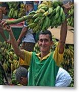 Banana Man Metal Print