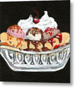 Banana Split Metal Print