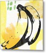 Bananas- Art By Linda Woods Metal Print