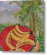 Bananas On A Plate Metal Print