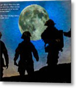 Band Of Brothers - Oil Metal Print