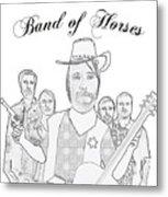 Band Of Horses Metal Print
