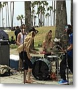 Band Playing 2 Metal Print
