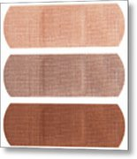 Bandages In Different Skin Colors Metal Print