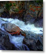 Banded Rock At Livermore Metal Print