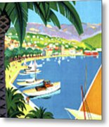 Bandol, French Riviera, Boats On Port Metal Print