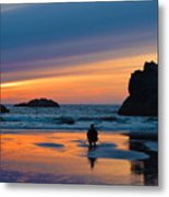 Bandon Sunset Photographer Metal Print