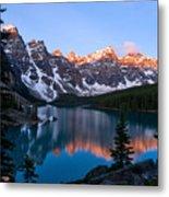 Banff - Moraine Lake Sunrise Metal Print by Terry Elniski