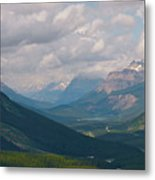 Banff National Park - View Through The Valley Metal Print