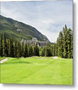 Banff Springs Golf And The Castle Metal Print